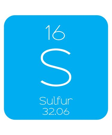 An Informative Illustration of the Periodic Element - Sulfur Illustration