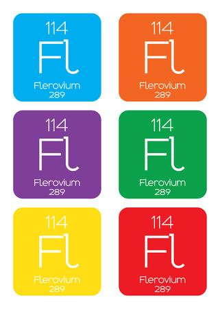 graphic flerovium: An Informative Illustration of the Periodic Element - Flerovium Illustration