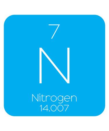 nitrogen: An Informative Illustration of the Periodic Element - Nitrogen