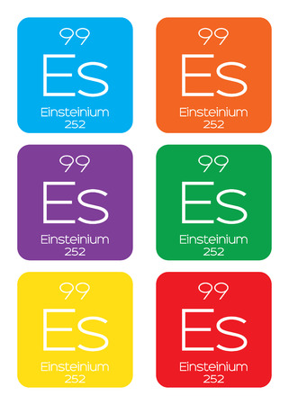 actinides: An Informative Illustration of the Periodic Element - Einsteinium
