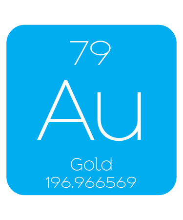 An Informative Illustration of the Periodic Element - Gold Illustration