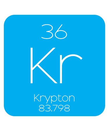 An Informative Illustration of the Periodic Element - Krypton