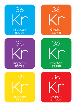 krypton: An Informative Illustration of the Periodic Element - Krypton