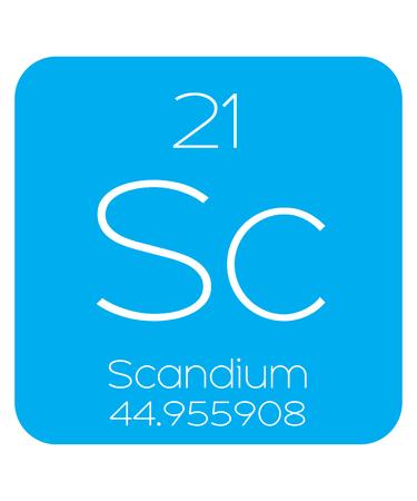 periodic element: An Informative Illustration of the Periodic Element - Scandium Illustration