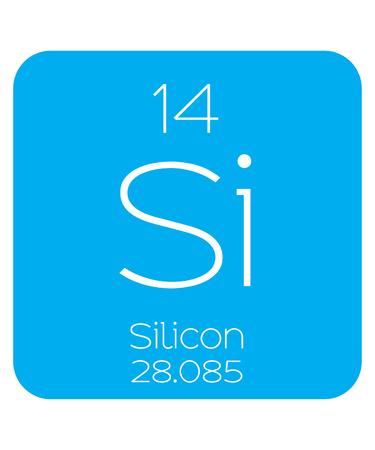 Eine informative Illustration des Perioden Element - Silicon