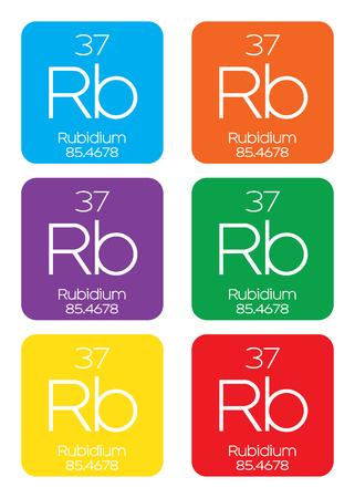 periodic element: An Informative Illustration of the Periodic Element - Rubidium Illustration
