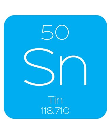 actinides: An Informative Illustration of the Periodic Element - Tin Illustration