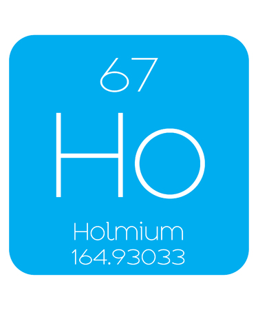 An Informative Illustration of the Periodic Element - Holmium