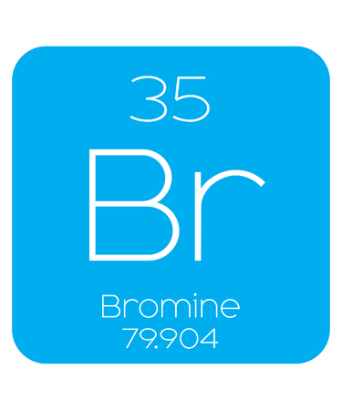 An Informative Illustration of the Periodic Element - Bromine