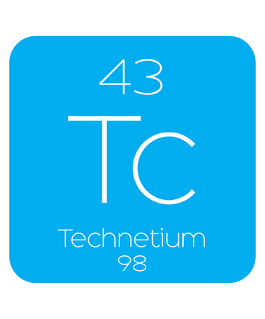actinides: An Informative Illustration of the Periodic Element - Technetium Illustration