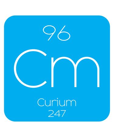 actinides: An Informative Illustration of the Periodic Element - Curium Illustration