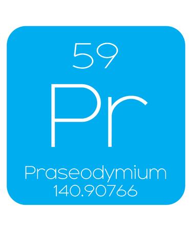 periodic element: An Informative Illustration of the Periodic Element - Praseodymium Illustration