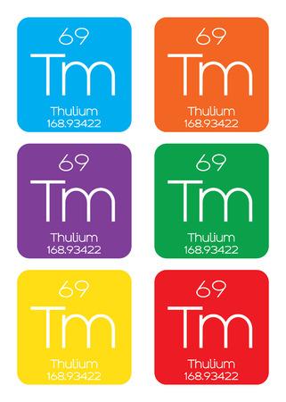 halogens: An Informative Illustration of the Periodic Element - Thulium Illustration