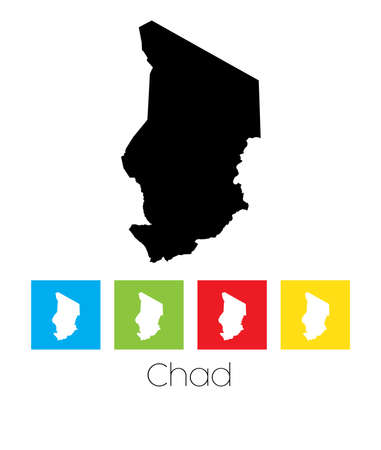 tchad: A Map of the country of Chad
