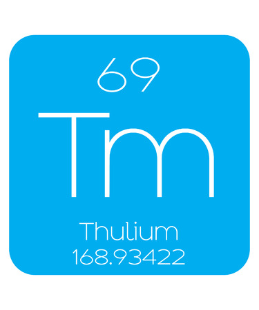 actinides: An Informative Illustration of the Periodic Element - Thulium Illustration