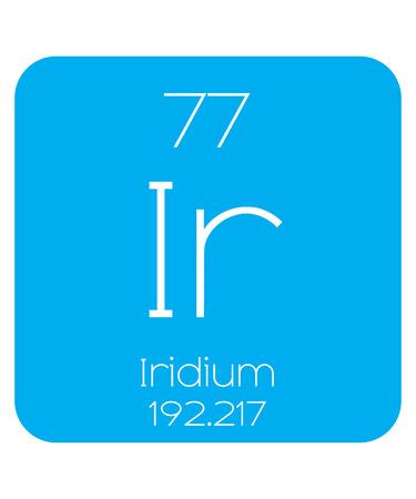 halogens: An Informative Illustration of the Periodic Element - Iridium Illustration