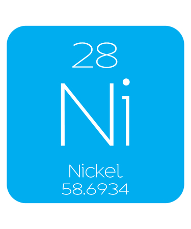 nickel: An Informative Illustration of the Periodic Element - Nickel Illustration