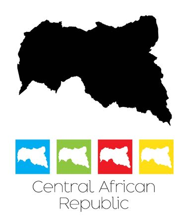 central african republic: A Map of the country of Central African Republic Illustration
