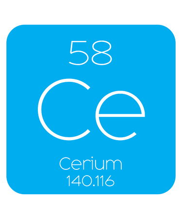 atomic number: An Informative Illustration of the Periodic Element - Cerium Illustration