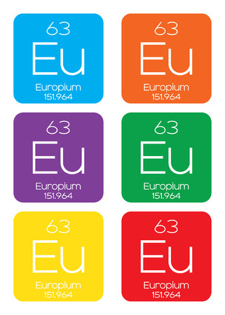 atomic number: An Informative Illustration of the Periodic Element - Europium Illustration
