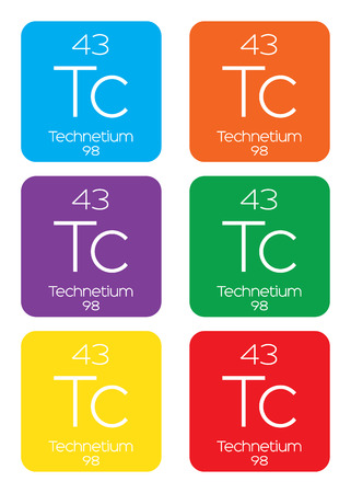 actinides: An Informative Illustration of the Periodic Element - Technetium Illustration
