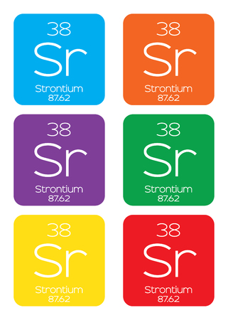 strontium: An Informative Illustration of the Periodic Element - Strontium Illustration