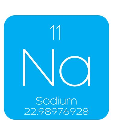 sodio: An Informative Illustration of the Periodic Element - Sodium Vectores