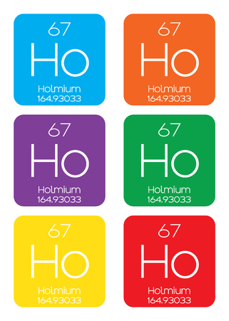 actinides: An Informative Illustration of the Periodic Element - Holmium