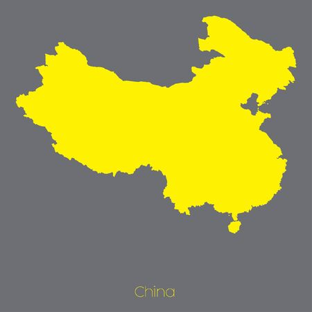 map of china: A Map of the country of China Stock Photo