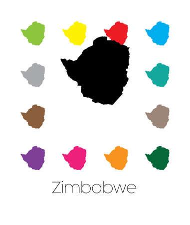 zimbabwe: Un mapa del país de Zimbabwe