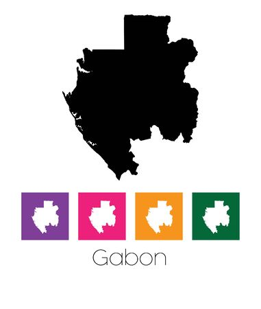 gabon: A Map of the country of Gabon