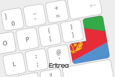 eritrea: Illustration of a Keyboard with the Enter button being the Flag of Eritrea