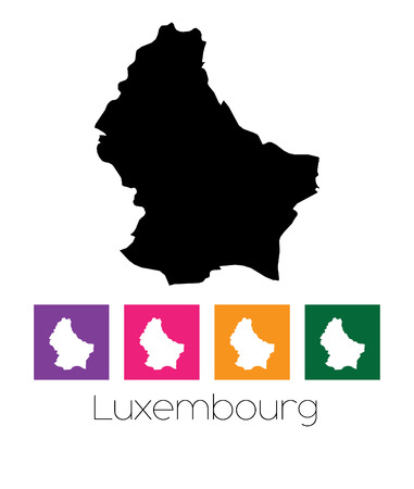 luxembourg: A Map of the country of Luxembourg