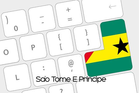 tome: Illustration of a Keyboard with the Enter button being the Flag of Sao Tome E Principe