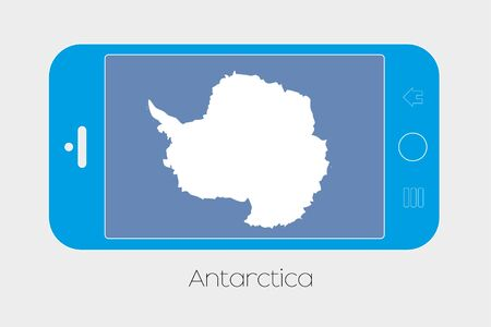 antartica: Mobile Phone Illustration with the Flag of Antartica