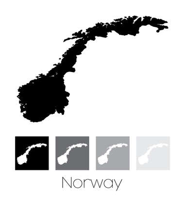 Norway Outline Map Cliparts Stock Vector And Royalty Free - Norway map cartoon