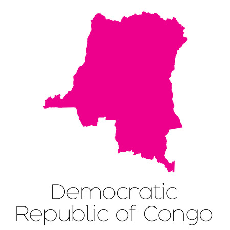 democratic: A Map of the country of Democratic Republic of Congo Stock Photo