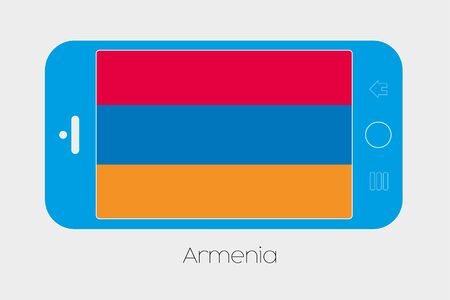 armenia: Mobile Phone Illustration with the Flag of Armenia