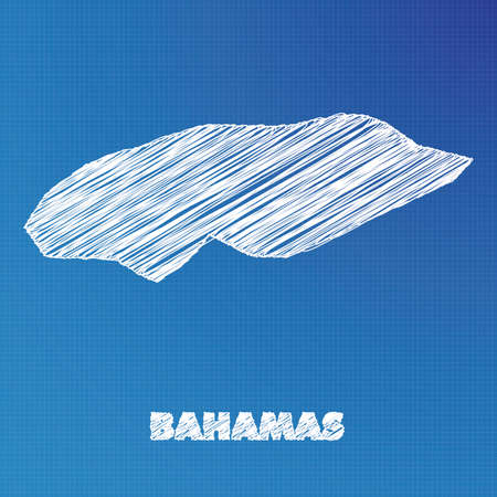 bahamas map: A Blueprint map of the country of Bahamas