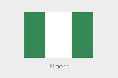 rotated: A 180 Degree Rotated Flag of  Nigeria