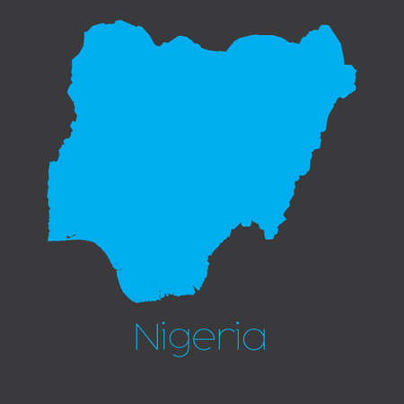 country nigeria: A Map of the country of Nigeria