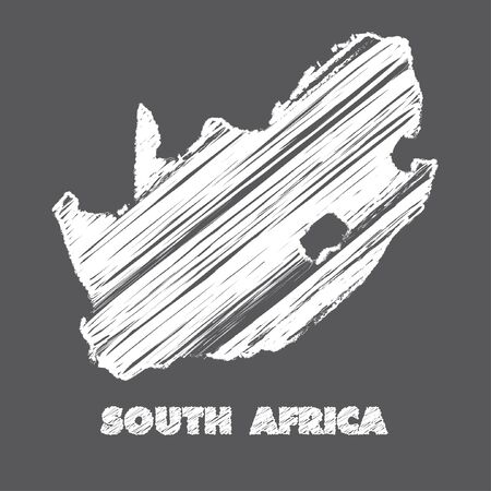 africa outline: A Map of the country of South Africa Stock Photo
