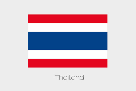 rotated: A 180 Degree Rotated Flag of  Thailand Stock Photo