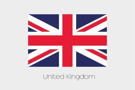 rotated: A 180 Degree Rotated Flag of  United Kingdom
