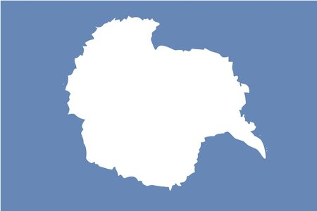 antartica: A 180 Degree Rotated Flag of  Antartica