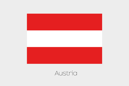 rotated: A 180 Degree Rotated Flag of  Austria