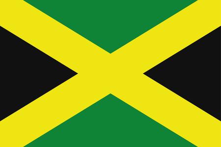 rotated: A 180 Degree Rotated Flag of  Jamaica