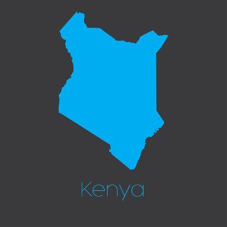 kenya: A Map of the country of Kenya