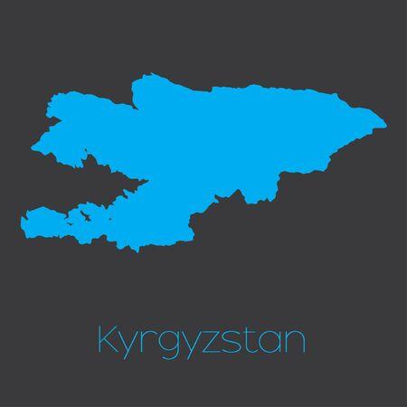 kyrgyzstan: Un mapa del pa�s de Kirguist�n