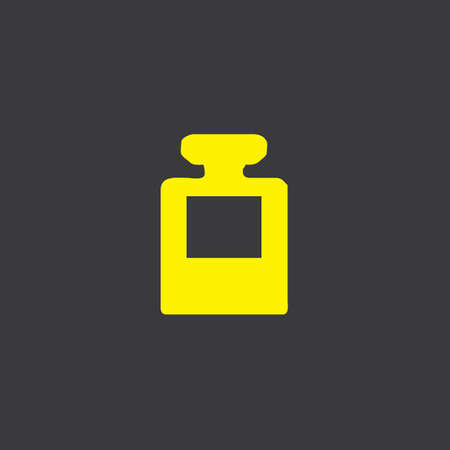 inkpot: A Yellow Icon Isolated on a Grey Background, Ink Pot